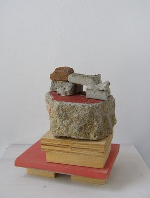 David McDonald Tiny Histories Wood, Mortar, Joint Compound, Acrylic