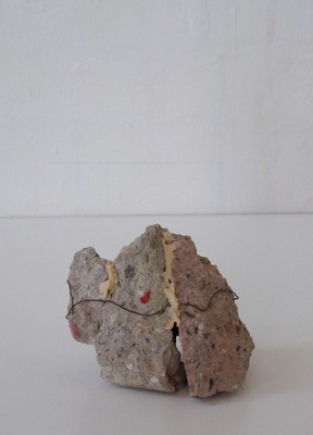 David McDonald Tiny Histories Mortar, Wire, Paint