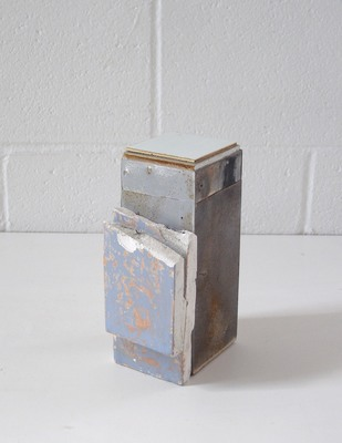 David McDonald Tiny Histories Metal, Wood, Sheetrock, Acrylic