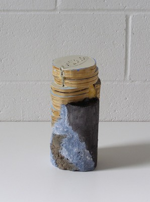 David McDonald Tiny Histories Wood, Mortar, Paper Pulp, Acrylic Paint