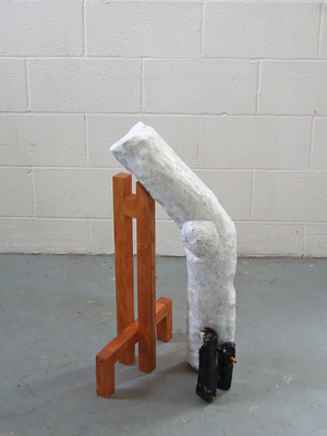 David McDonald Supported Self Wood, Plaster, Modeling Compound, Wood Stain, Enamel Paint