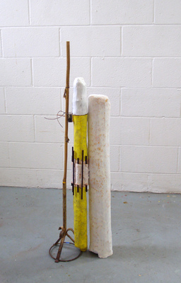 David McDonald Supported Self Wood, Bamboo, Steel, Modeling Compound, Wire, Joint Compound, Enamel Paint