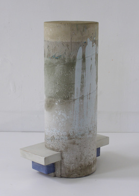 David McDonald 2000-2010 Hydrocal, Mortar, Plexiglas, Wood, Pigment, Enamel