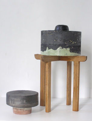 David McDonald 2000-2010 Hydrocal, Mortar, Pigment, Wood, Enamel, Varnish