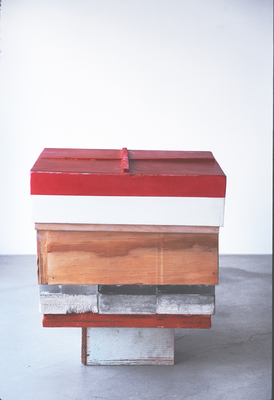 David McDonald 2000-2010 Mortar, Wood, Plexiglas, Acrylic, Joint Compound, Wax, Varnish