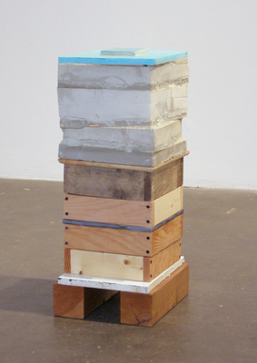 David McDonald 2000-2010 Wood, Mortar, Hydrocal, Joint Compound, Acrylic
