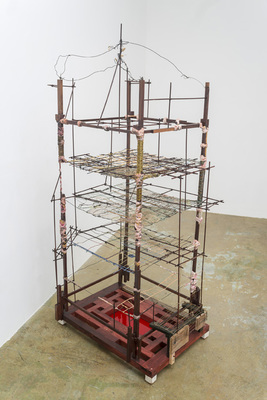 David McDonald Various works 2010-2015 Wood, Wire, Plaster, Wood Stain, Plexiglas, Enamel