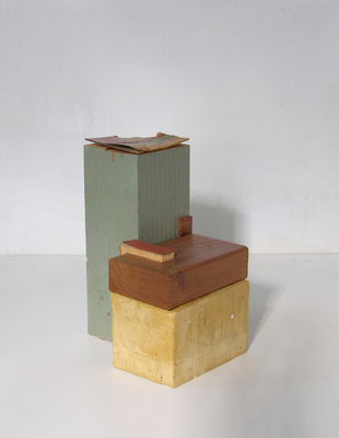 David McDonald Various works 2010-2015 Wood, Hydrocal, Mortar, Cardboard, Pigment