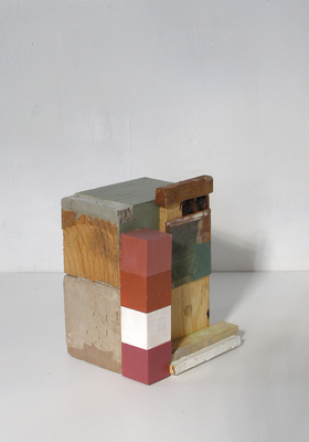 David McDonald Various works 2010-2015 Wood, Mortar, Hydrocal, Acrylic, Pigment