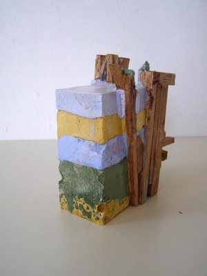 David McDonald Compacts Balsa Wood, Hydrocal, Pigment, Wood Stain, Paper Pulp, Varnish