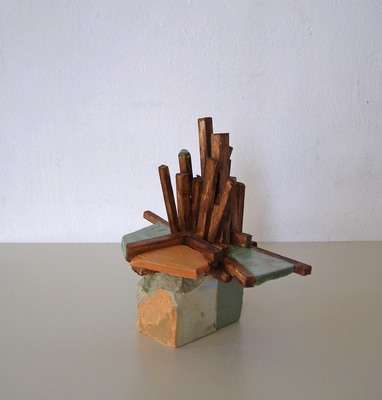 David McDonald Compacts Balsa Wood, Hydrocal, Pigment, Wood Stain, Varnish