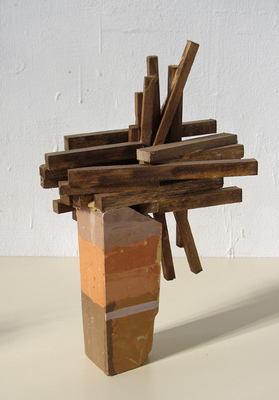 David McDonald Compacts Hydrocal, Pigment, Balsa Wood, Wood Stain