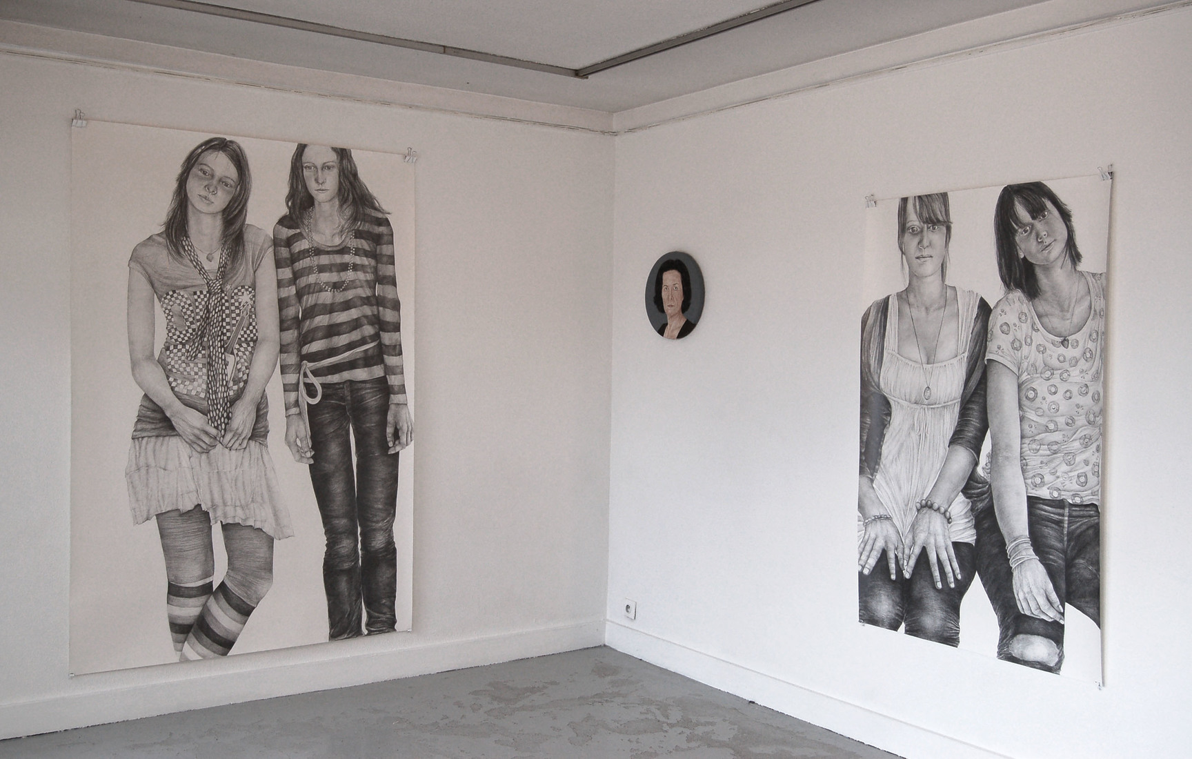 Exhibit views / Vues De Face (Frontal View), show with Antony Vérot