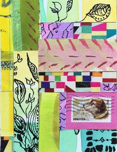 Dorothy Englander  Collages collage on found wood