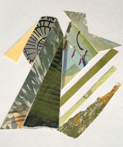 Dorothy Englander  Collages 2017  mixed media collage on watercolor paper