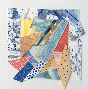 Dorothy Englander Collages 2018 watercolor/mixed media collage on watercolor paper