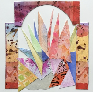 Dorothy Englander Collages 2018 watercolor, ink, collage