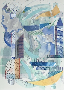 Dorothy Englander Collages/Watercolors 2018 collage, watercolor, monotype