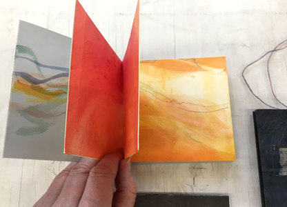 EDDA VALBORG Handmade books Monotype print on paper