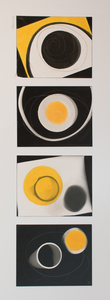 ENNID BERGER Abstractions acrylic paint on 4 silver gelatin photograms