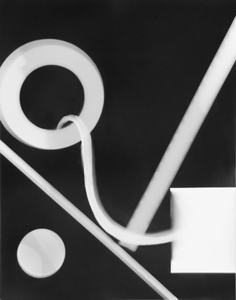 ENNID BERGER Abstractions oil paint on silver gelatin photogram