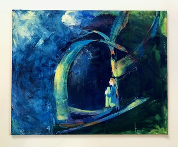 Ginna Heiden paintings oil and cold wax