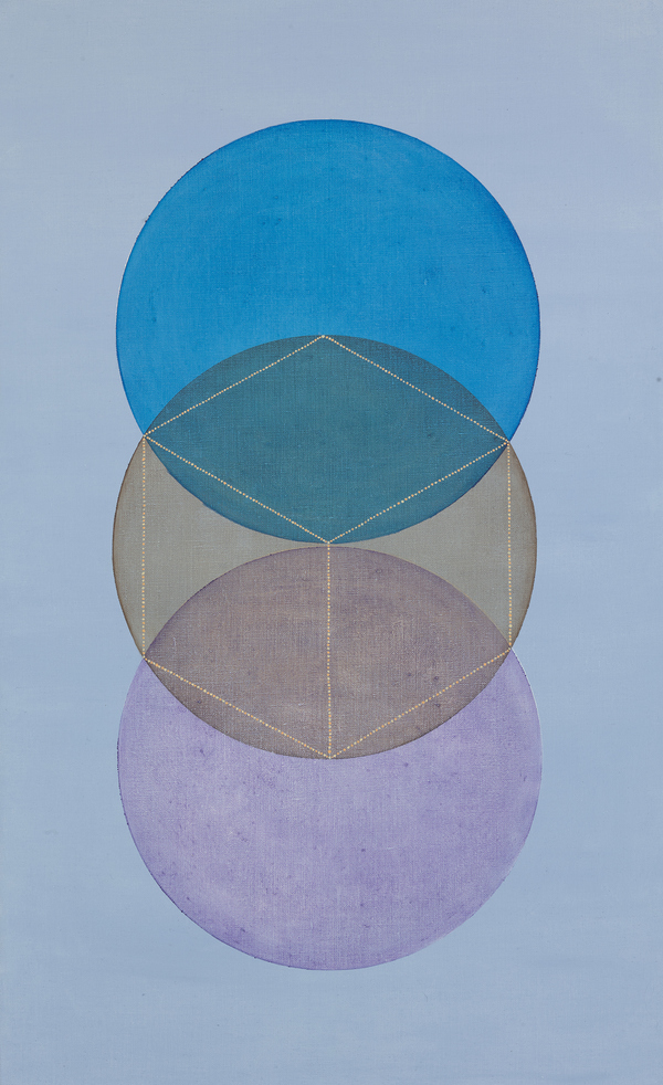 GRACE DEGENNARO Platonic Solids oil on linen