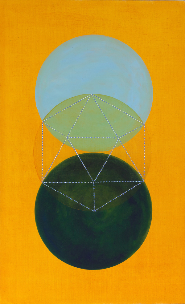 Platonic Solids Series oil and wax on linen