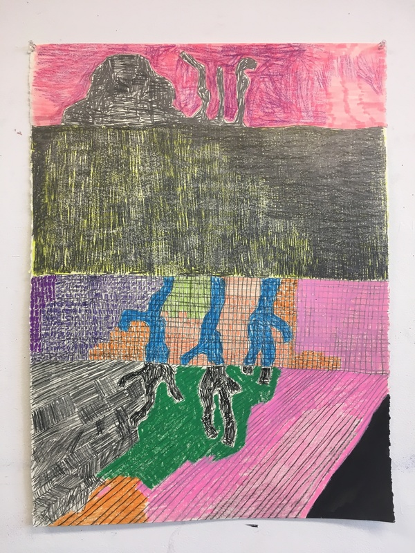 Greg Piwonka Drawings Pencil, marker, oil pastel, crayon and sumi ink