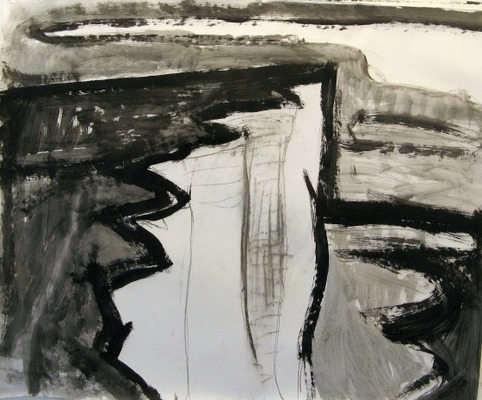 Iris Osterman Sussex Drawings Acrylic/Charcoal on paper
