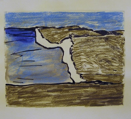 Iris Osterman South Downs Way Prints Monotype w/Pastel