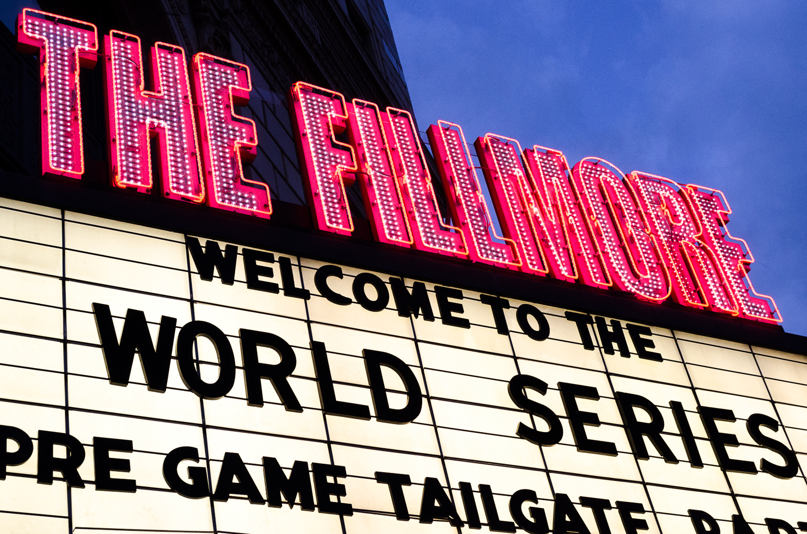 Theatres Tailgating at the Fillmore