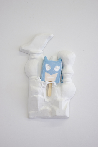 jesse robinson Melt Epoxy clay, hydrocal, fiberglass, Batman popsicle, hardware