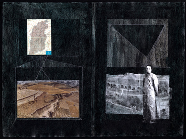 Joanna Kao Hidden Geometry Collage & Painting