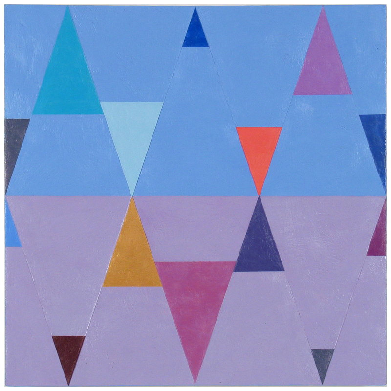Joanne Mattera Painting: Chromatic Geometry 18 x 18 inches