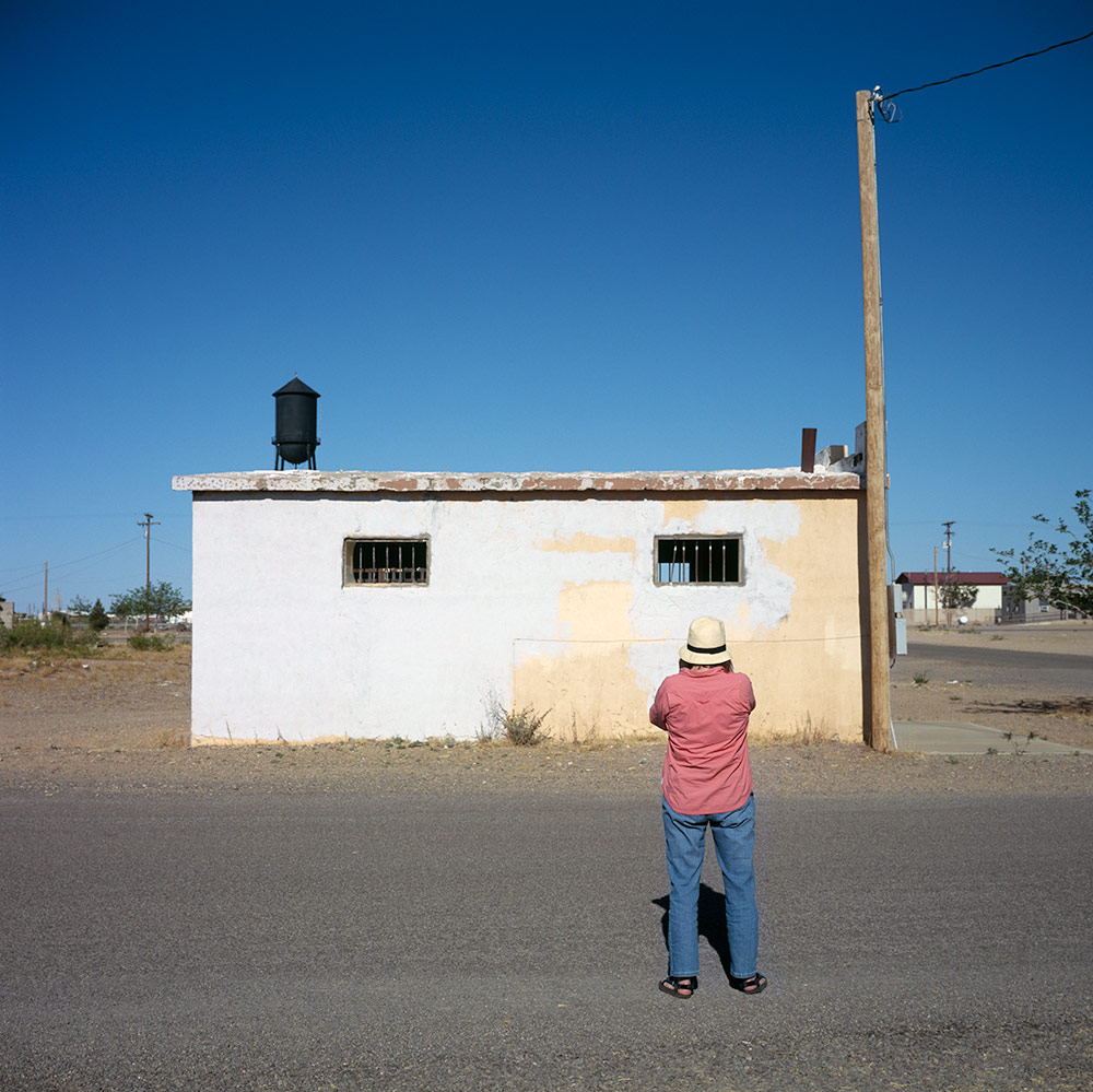 Julie, Landscape Julie Photographing in New Mexico Border Region
