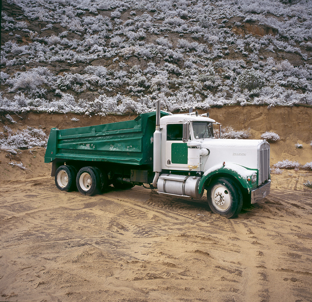 Mechanical Landscape Green Truck