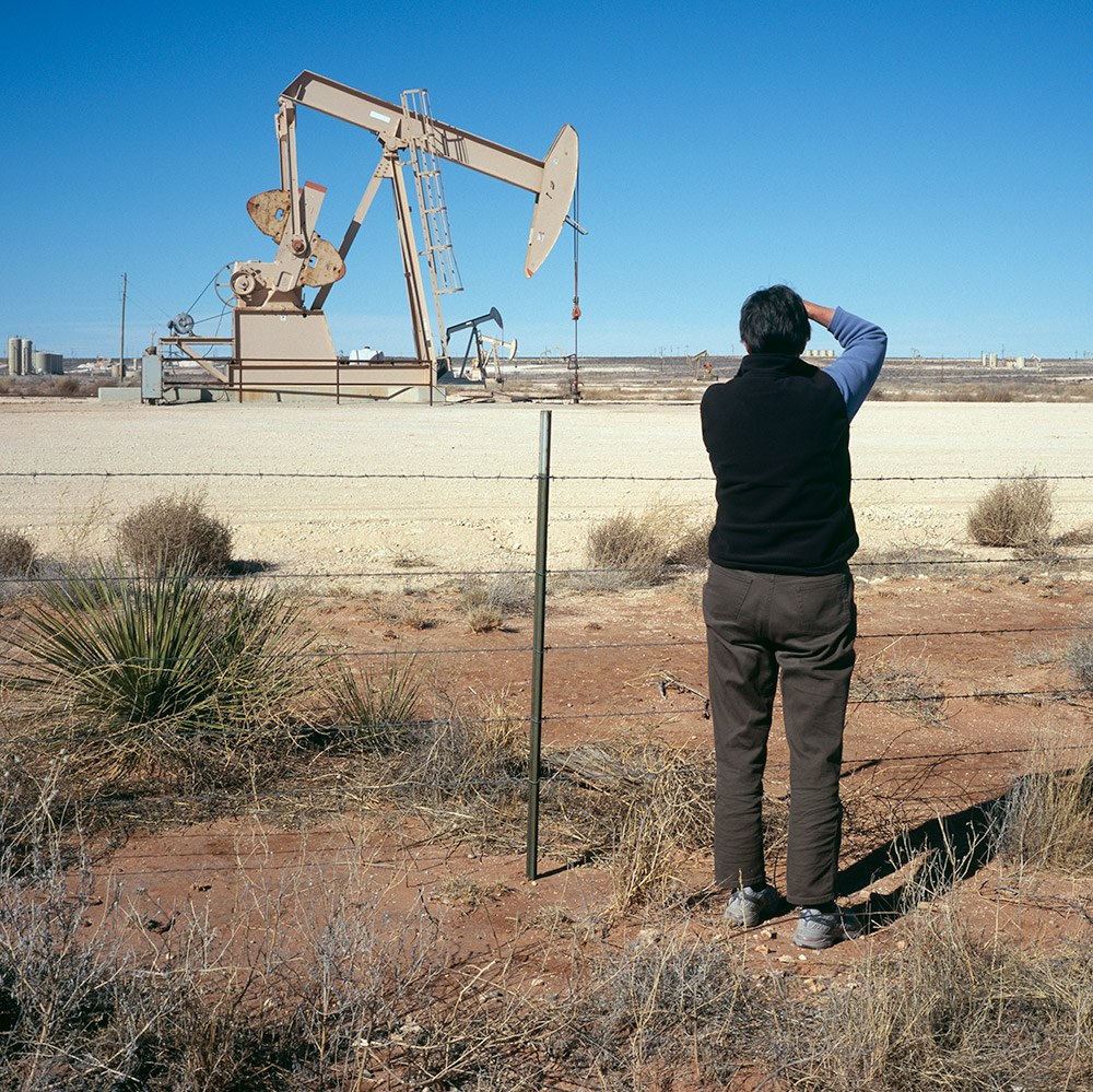Julie, Landscape Julie Photographing in the Permian Basin, New Mexico