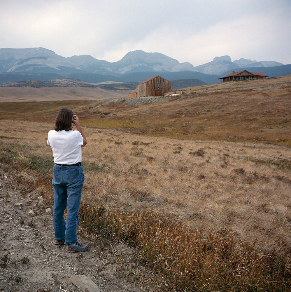 Julie, Landscape Julie Photographing in the Rocky Mountain Front, Montana