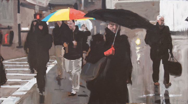 John Bonner Commuters Oil on linen