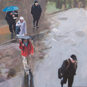 COMMUTERS Oil on Canvas