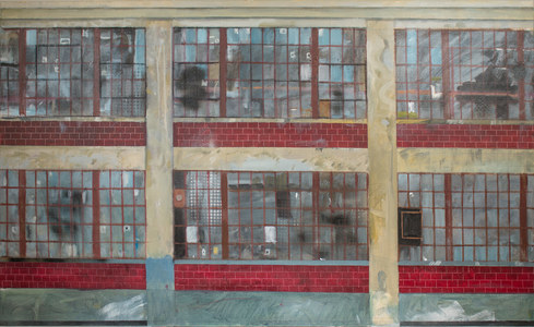 John Bonner Urban Landscapes Mixed media on canvas