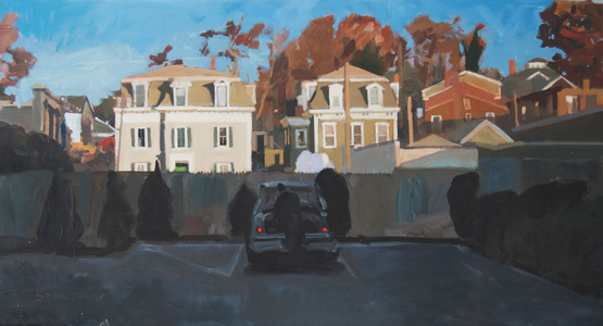 John Bonner Suburban Landscapes Oil on Cnavas