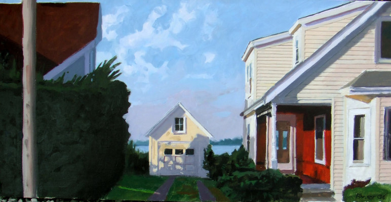 John Bonner Suburban Landscapes Oil on canavs