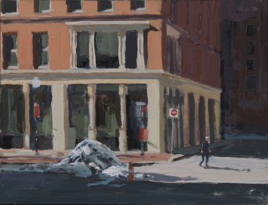John Bonner Urban Landscapes Oil on board