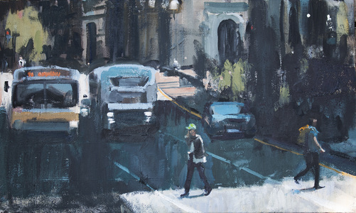 John Bonner Urban Landscapes Oil on cnvas
