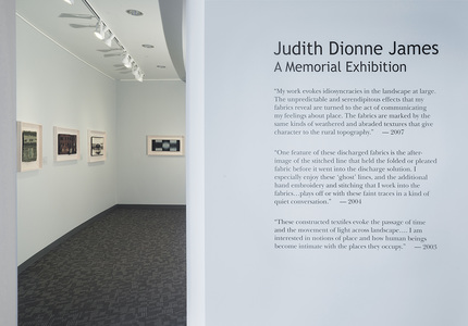 Judith James Textile Constructions Exhibition views Photo credit: Larry Gawel