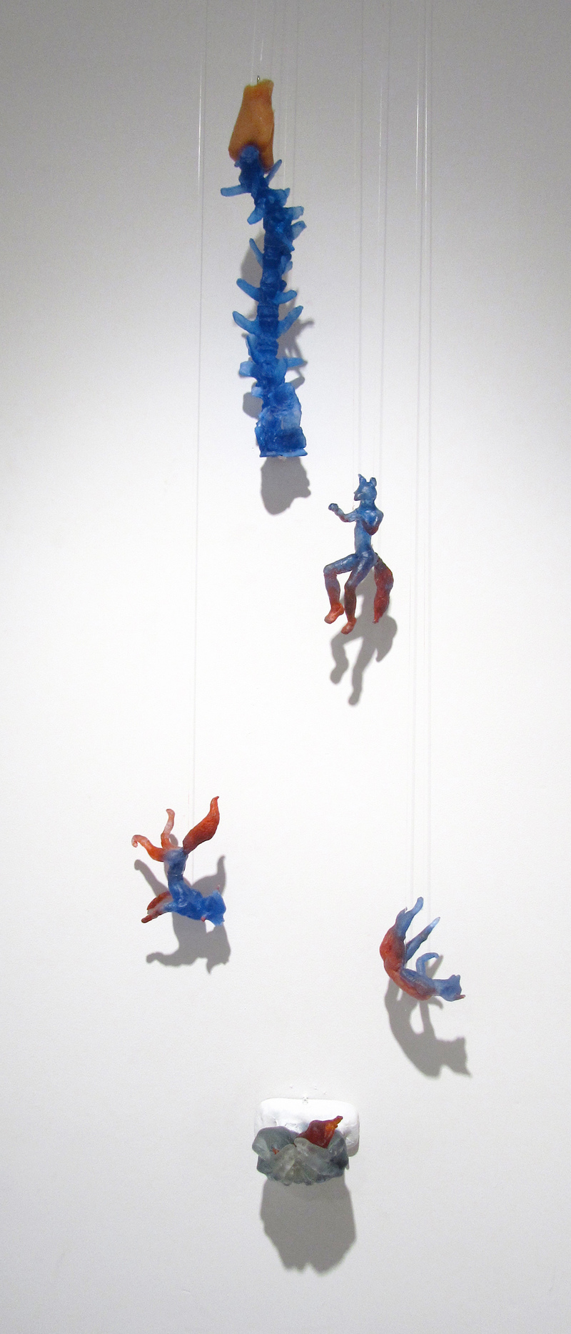 Julie Carrasco 狐付き (kitsunetsuki) Glass, rubber, oil paint
