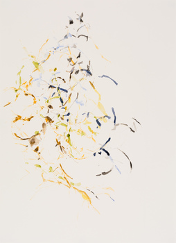 "Karl Pilato Watercolor: ""Emergent Traces"" watercolor"