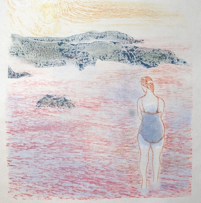 Kate Hanlon Woodcut Monoprints Woodcut monoprint